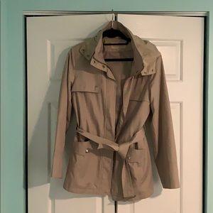Michael Kors Trench Coat with zipper hood